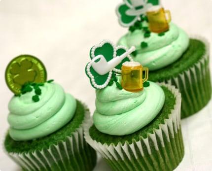 Lucky Green Velvet Baby Cakes Recipe — Dishmaps