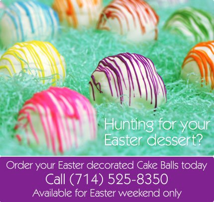 Easter Decorated Cake Balls