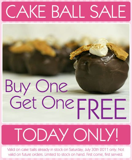 Buy one get one free cake ball sale