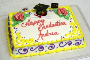 graduation cake colorful