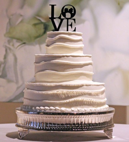 seven degrees wedding cake
