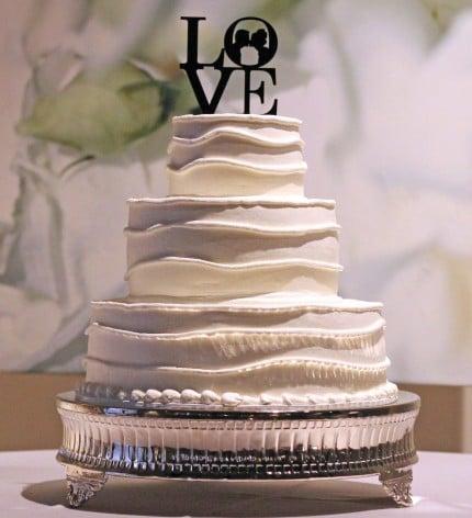 seven degrees wedding cake