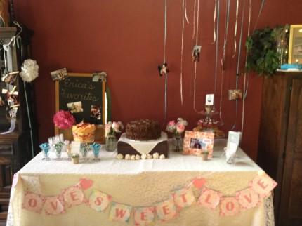 chocolate flower bridal shower cake