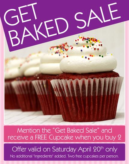 Get Baked Sale - Cupcake Sale
