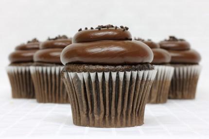 Gluten-Free Chocolate with Chocolate Fudge Cupcake