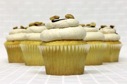 Gluten-Free White with Peanut Butter Mousse Cupcake