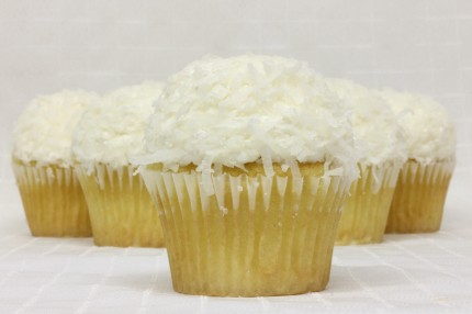 Gluten-Free White with Coconut Cupcake