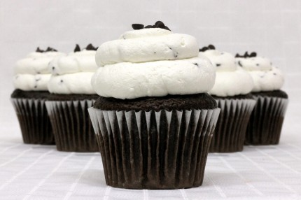 Gluten-Free Chocolate with Chocolate Chip Mousse Cupcake