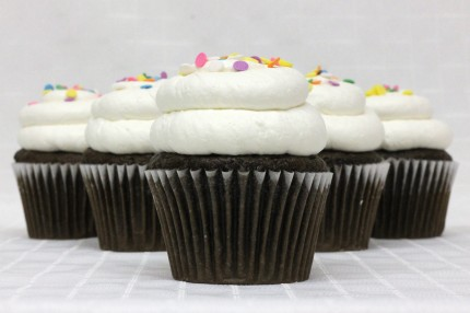 Gluten-Free Chocolate with Vanilla Mousse Cupcake