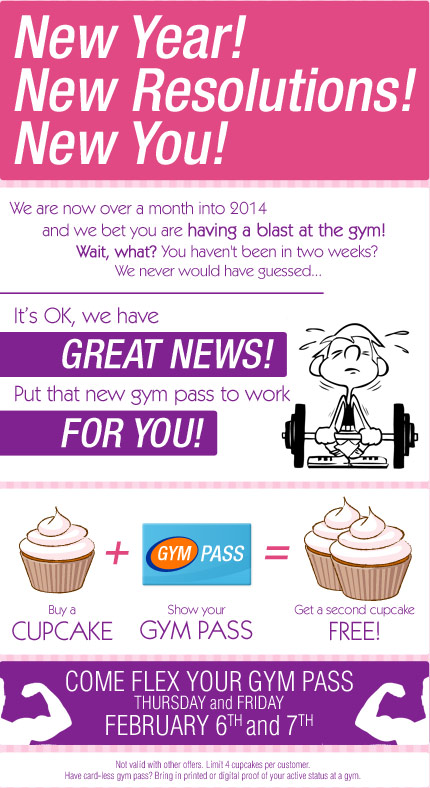 Flex Your Gym Pass for Cupcakes