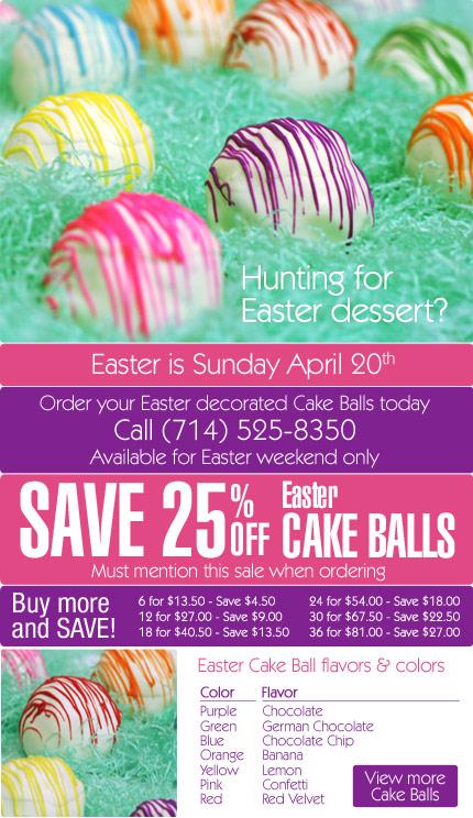 2014 Easter Cake Balls