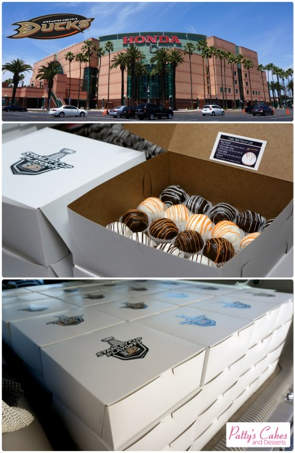 Cake Balls delivered for the Anaheim Ducks Hockey Team